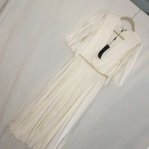 Halston Heritage pleated goddess midi NO SIZE TAG